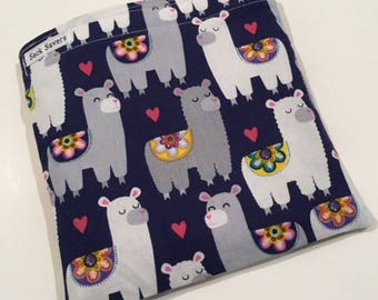 Reusable Sandwich And Or Snack Bag Cute Llama Heart Reusable Sandwich Snack Bag You Choose Size
