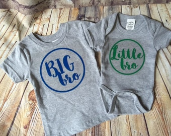 Big bro/Little bro shirt and bodysuit set