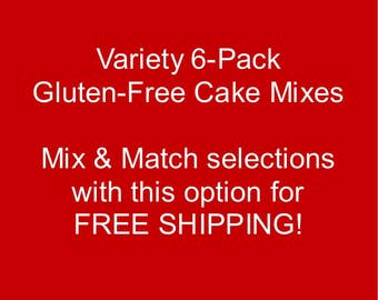 Variety 6-Pack: Gluten-free Cake Mixes