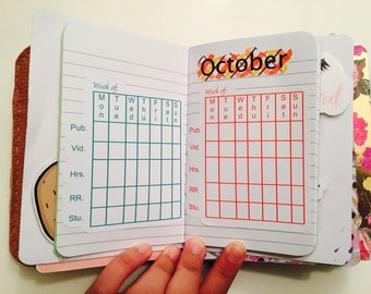 JW planner stickers, field service weekly time keepers, glossy