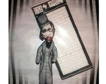 Marilyn Manson doll, decorative doll, manson doll, custom dolls, kinki dolls, etaspunk