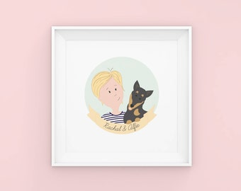 Custom Illustrated Portrait - Custom Pet Portrait