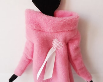 Knit, sweater in wool for doll