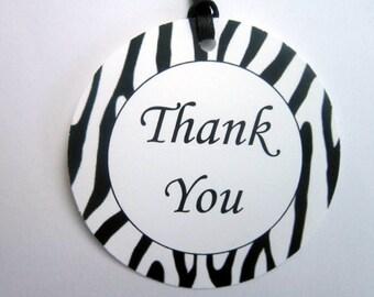 Zebra Print Favor Tags