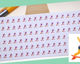 PLANNER STICKER    surfer    sport    small colored icon   for your planner or bullet journal