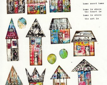 Collaged houses download
