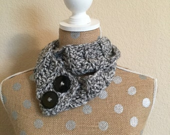 Toddler 2 in 1 Scarf/Infinity Scarf - Gray