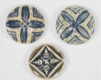 Vintage Porcelain Buttons- PR-44