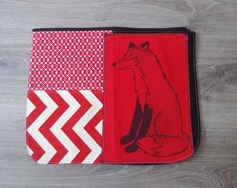 Fox Bag flap for GIANT messenger bag, changeable flap collection**FLAP ONLY**