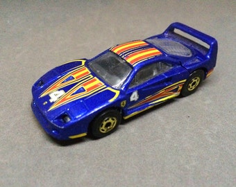 Vintage Ferrari F40 Hot Wheels Diecast Blue