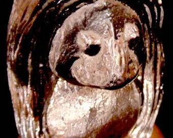 Retro-schwedische Glas ~ Troll ~ seine ~ TROLL ~ Gnome ~ Made in Schweden ~ Briefbeschwerer ~ schwedische Geschenk ~