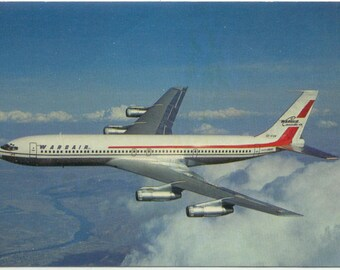 Wardair Canada Boeing 707-320C Jet Aircraft Vintage 1960's Max Ward POSTCARD