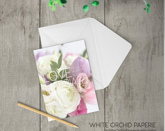 Congratulations on your wedding day, card for the bride and groom, floral wedding card, wedding congrats card, marriage card, TWO-GE255