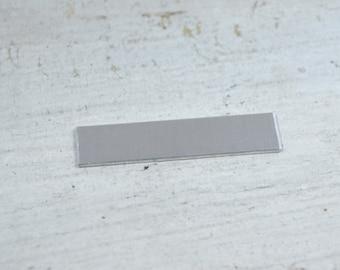 "5 Aluminum 18 gauge Stamping Blanks 2""  X 1/2"" Long Rectangle"
