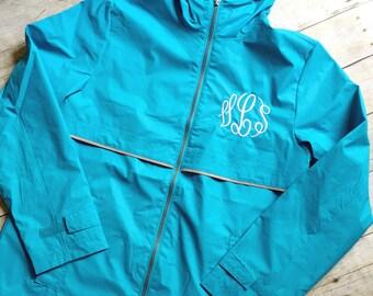 FREE SHIPPING! Monogram Rain Jacket, Monogrammed Charles River Rain Jacket, Women's Monogrammed Rain Jacket, Monogrammed Rain Jacket