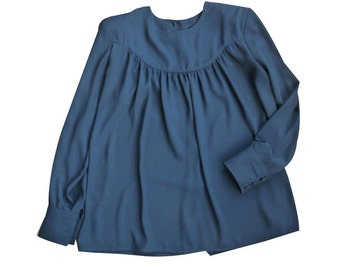 SONIA RYKIEL - black blouse - size 38 GB