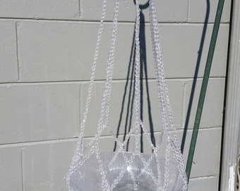 Clear Beaded Plant Hanger