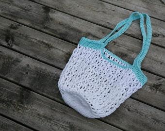 Crochet Beach Bag, Beach Bag, Crochet Cotton Tote Bag, Market Bag, Crochet Tote Bag, Reusable Shopping Bag, Market Tote, Mesh Beach Bag