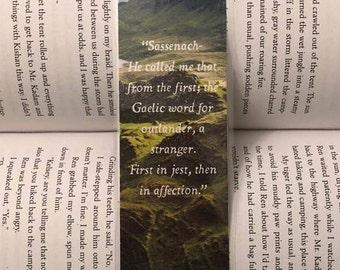 Outlander Bookmark (Sassenach...)