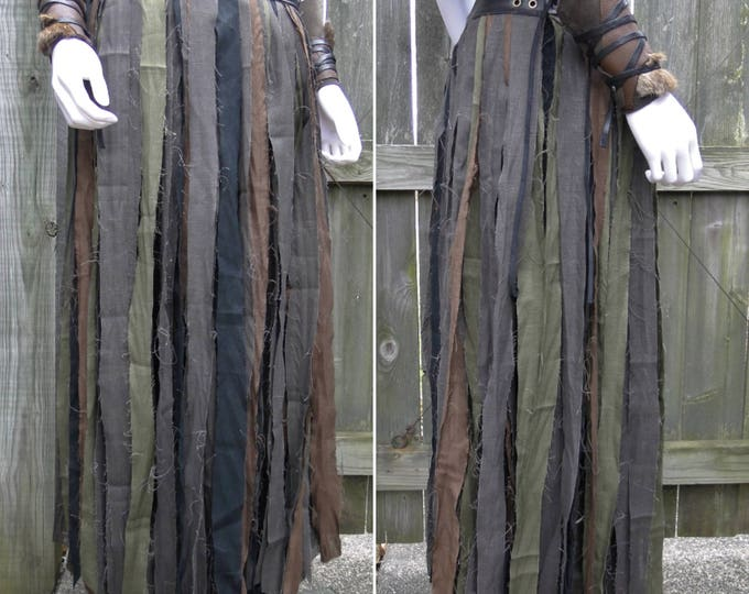 Linen Wrap Skirt, Full Length Tribal Fantasy Renaissance Style - Women's Adjustable Fit, Choose Your Size
