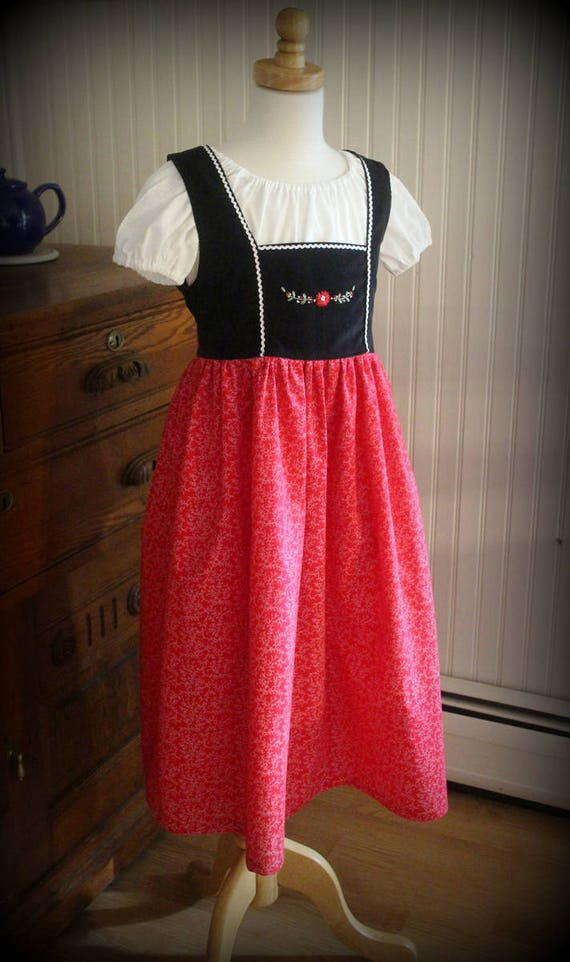 Oktoberfest Hand Embroidered Dirndl 2-12
