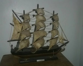 "Vintage wooden ship,  17"" × 16 ""( SEA WITCH 1846 )"