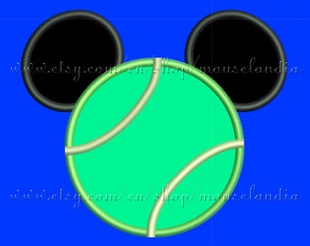 Cute ball beisbol  mouse   Applique Design  3 sizes 4X4, 5X7 and 6X10 Instant Download