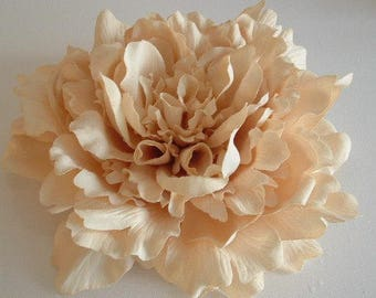 Giant Peony - Cream - Millinery supplies, millinery, hats, fascinators, races, weddings, bridal, hair accessories