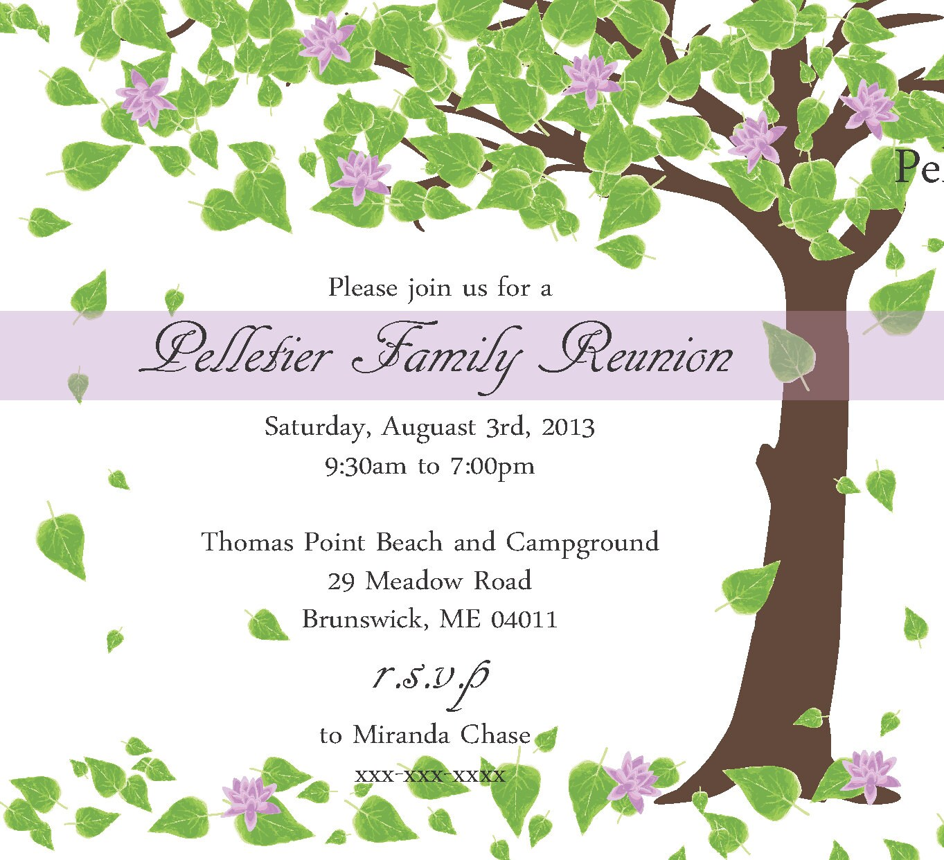 free printable family reunion invitations - Tire.driveeasy.co