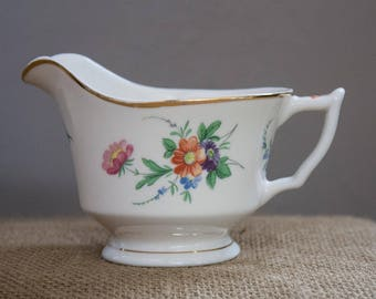 Vintage Creamer, Old Ivory Syracuse, Fine China Creamer, OPCO, Made in America, Floral design Gold