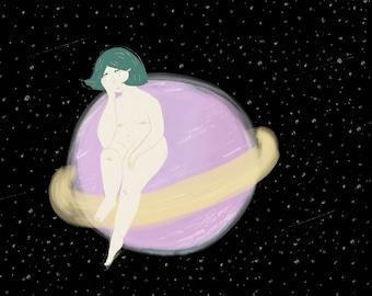 Space Girl Print