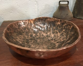 Hand forged Copper bowl