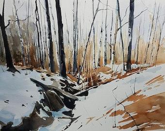 Landscape Painting, Winter Landscape Painting, Landscape Art, Landscape Wall Art, Home Decor, Home Sweet Home, Original Landscape Art
