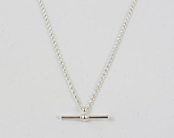 Albert Chain Necklace Sterling Silver - pendant necklace - belcher chain