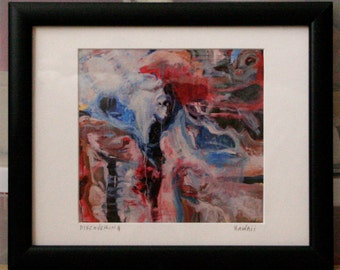 Discovering framed giclee matted print matted with 100 percent cotton rag. Ready to hang.