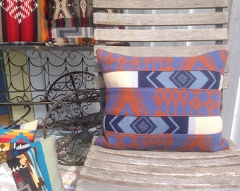 Geometric Mosaic Wool Pillow
