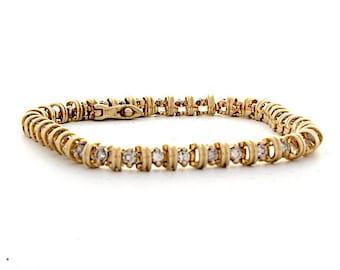 Diamond Bracelet, 1.2ct, 14K Gold (14B464)