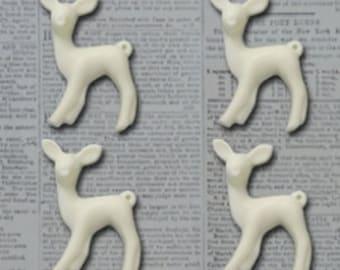 Maya Road Oh Deer Resin Charms - Cream
