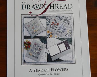 A Year of Flowers Cushion & Folio by The Drawn Thread