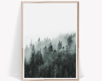 Perfect Forest Print,Nature Print,Forest Art Print,Nordic Print,Forest Wall Art,Nature  Wall Art,Fog,Prints Wall Art,Nordic,Poster,Nature,Art Prints