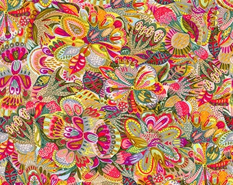 Floral Waterfall by Shannon Newlin for Free Spirit - Original - Bright - 1/2 yard Cotton Quilt fabric