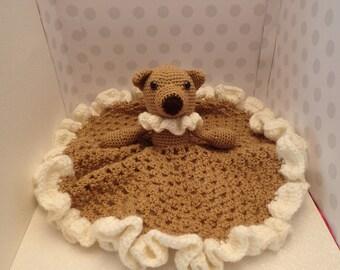 "Beautiful Crochet Baby ""Blankie or Lovey security blanket"