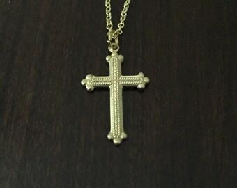 Cross Necklace, Gold Cross Necklace, Cross, Gold Cross, Religious Necklace, Religious Jewelry, Cross Jewelry, Gold Necklace, Necklace