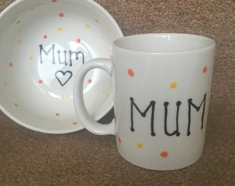 Mum bowl and mug