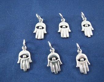 12 zilver Hamsa Hand charme hangers
