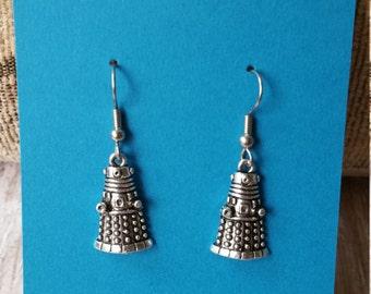 Dalek Charm Dangle Earrings - Flat Rate Shipping in US!