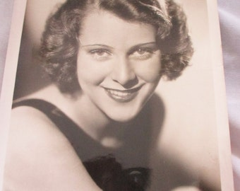 Vintage 1930's Press release of Peggy Shannon - Actress with Million Dollar Smile - Rare Photo - Estate find!
