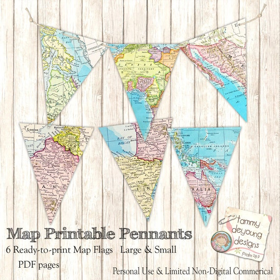 closing a letter map banner bunting map pennant flags printable map 46796