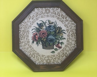 Vintage Kay Dee Linen Floral Wall Art