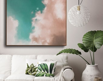Large Wall Art, Abstract painting, Large abstract, Cloud Painting, Large Decor Painting, Large wall art, Acrylic Large Art - READY TO HANG